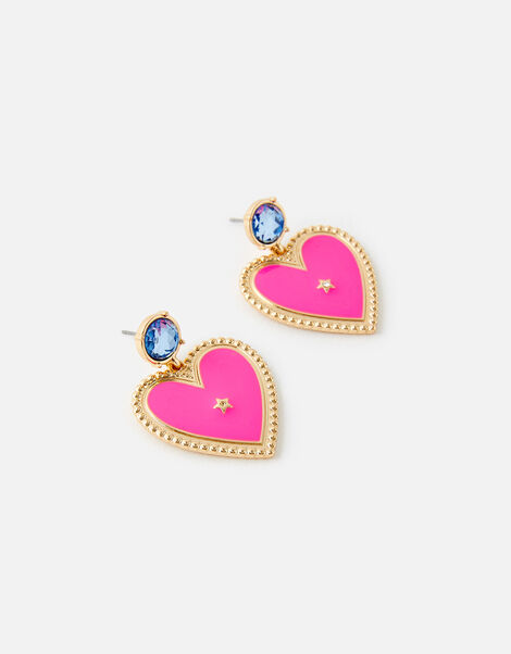 Heart Enamel Earrings, , large