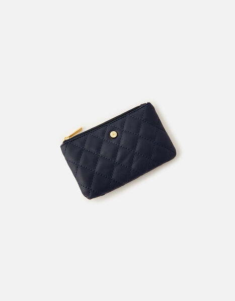 Quilted Coin Purse  Blue, Blue (NAVY), large