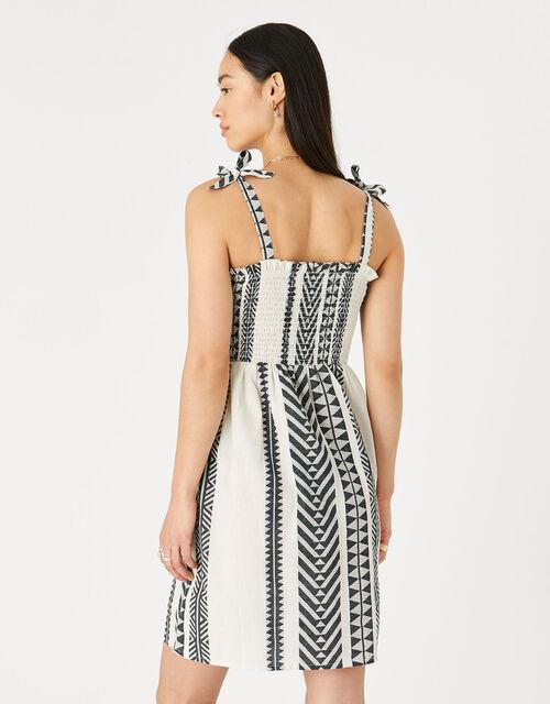 Jacquard Bandeau Dress , Black (BLACK/WHITE), large