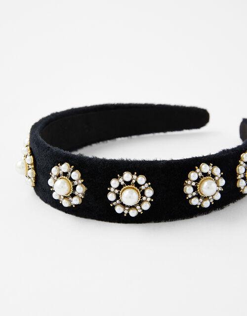 Pearly Brooch Headband, , large