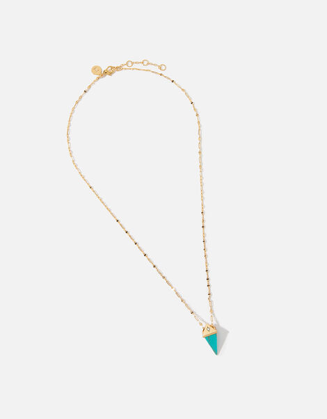 Healing Stones Gold-Plated Necklace - Turquoise, , large
