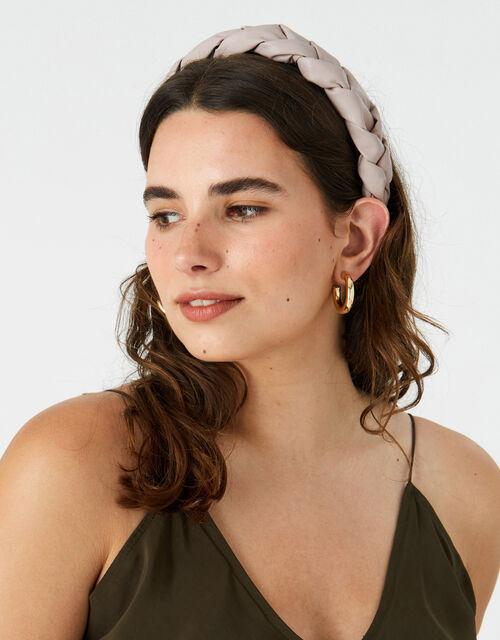 Plaited PU Headband , , large