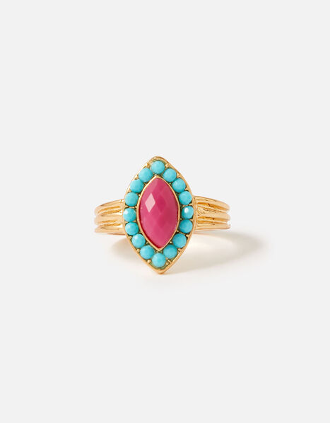Island Vibes Navette Statement Ring Multi, Multi (BRIGHTS-MULTI), large