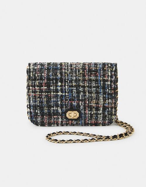 Evie Tweed Cross-Body Bag, , large