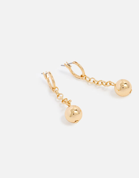 Berry Blush Chain Orb Drop Earrings, , large