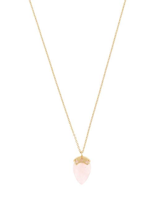 Healing Stones Rose Quartz Pendant Necklace, , large