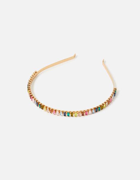 Rainbow Baguette Gem Headband , , large