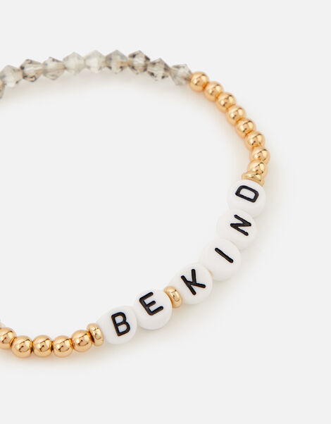 Be Kind Stretch Bracelet  Gold, Gold (GOLD), large
