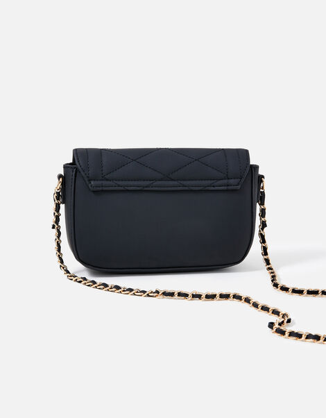 Chrissy Quilted Chain Cross-Body Bag Black, Black (BLACK), large