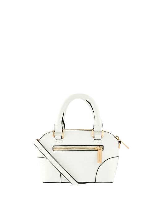 Cross-Body Kettle Bag, White (WHITE), large