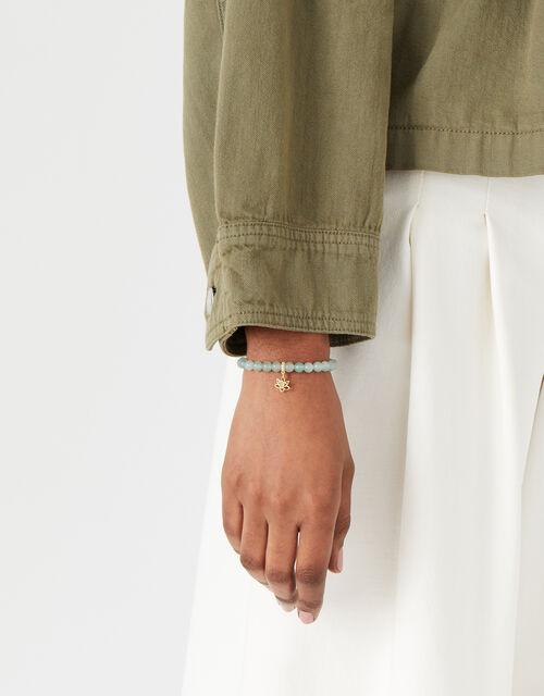 Aventurine Stone Pendant Bracelet, , large