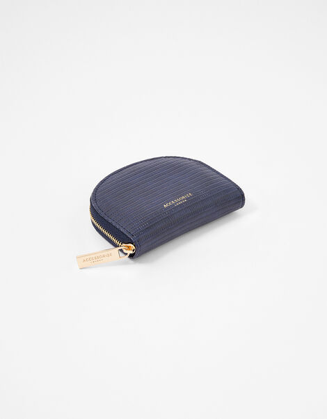 Semi Circle Coin Purse Blue, Blue (NAVY), large