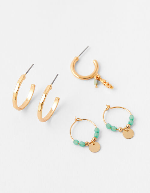 Turquoise Hoop Earring Set, , large