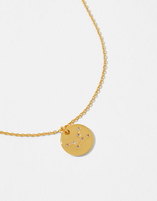Gold Vermeil Constellation Necklace - Aquarius, , large