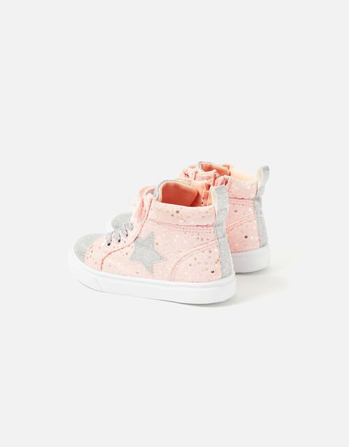 Girls Star High-Top Trainers, Pink (PINK), large