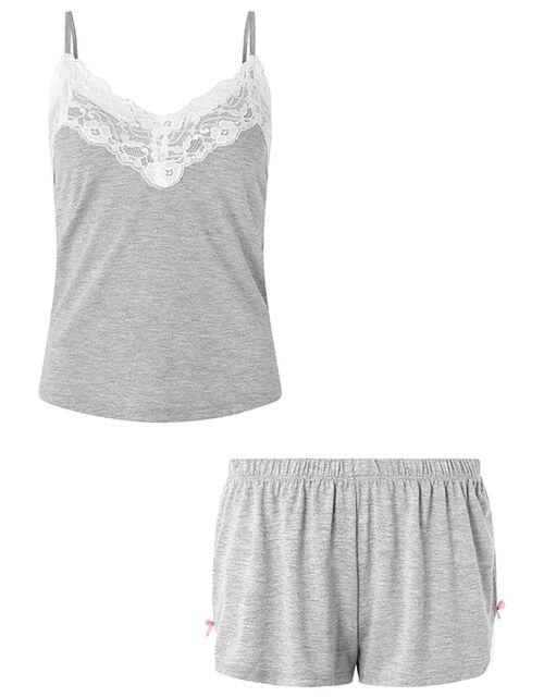 Teya Plain Vest Set, Grey (GREY), large