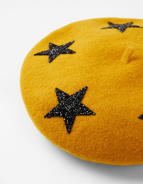 WISH UPON A STAR Beret, Yellow (OCHRE), large