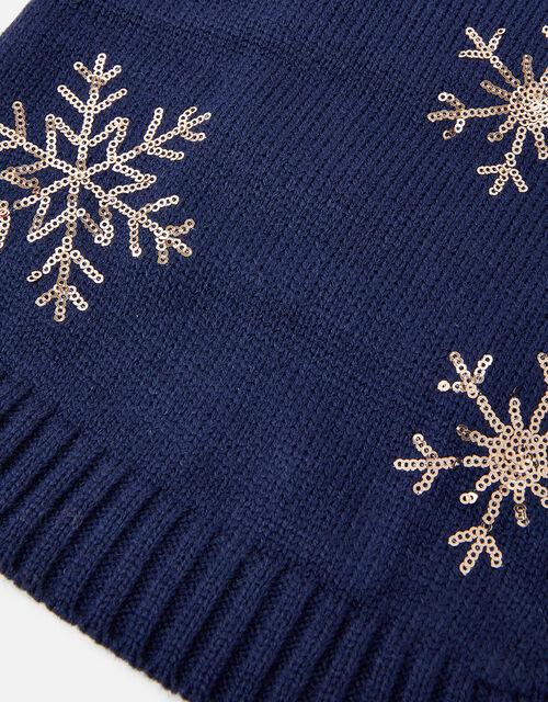 Snowflake Dog Jumper, Blue (NAVY), large