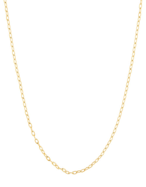 Gold-Plated Diamond-Cut Chain Necklace, , large