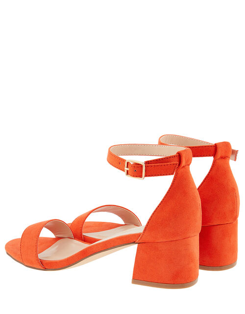 Block Heel Sandals, Orange (ORANGE), large