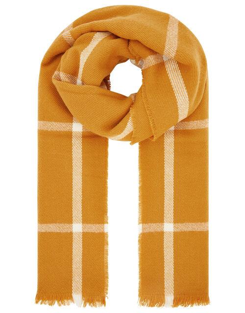 Sunny Windowpane Check Blanket Scarf, , large