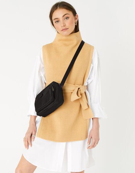 Megan Large Nylon Cross-Body Bag  Black, Black (BLACK), large