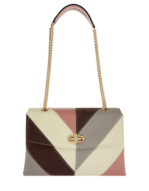 Adele Chevron Shoulder Bag, , large