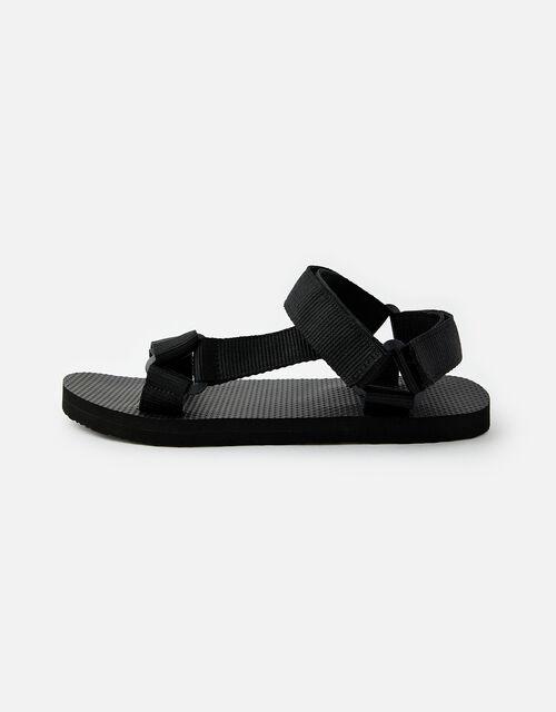 Strappy Sandals, Black (BLACK), large