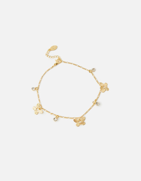 Sparkle Butterfly Anklet , , large