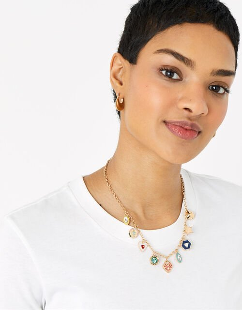 Colour Pop Charmy Collar Necklace , , large