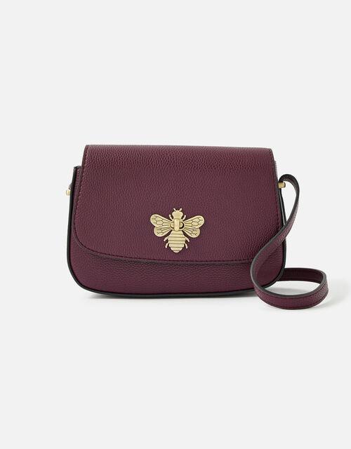 Britney Bee Cross-Body Bag , Red (BURGUNDY), large