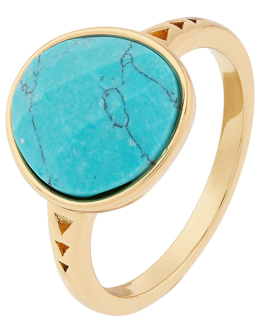 Healing Stones Turquoise Ring, Blue (TURQUOISE), large