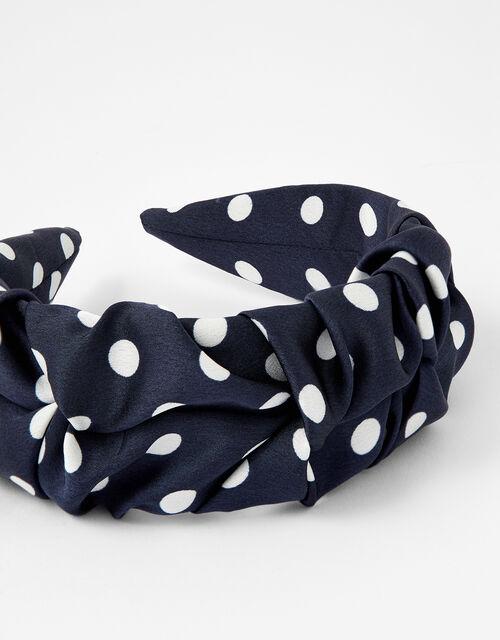Ruched Polka Dot Headband, , large