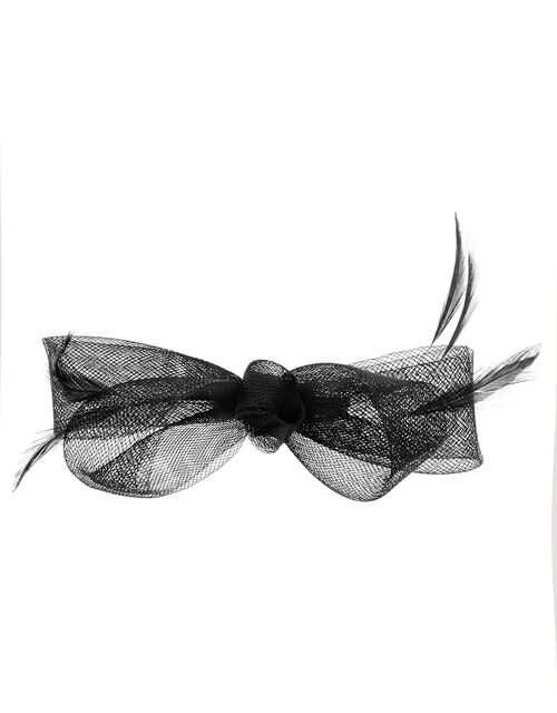 Ella Bow Hair Clip, Black (BLACK), large