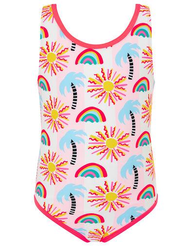 Summer Palm Tree Swimsuit Multi, Multi (BRIGHTS-MULTI), large