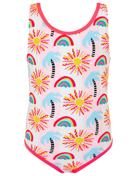 Summer Palm Tree Swimsuit Multi, Multi (BRIGHTS-MULTI), large