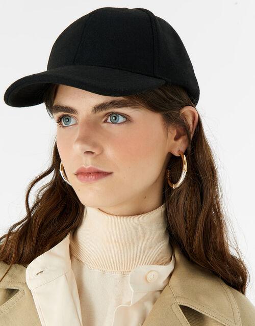 Super-Soft Marl Baseball Cap, Black (BLACK), large