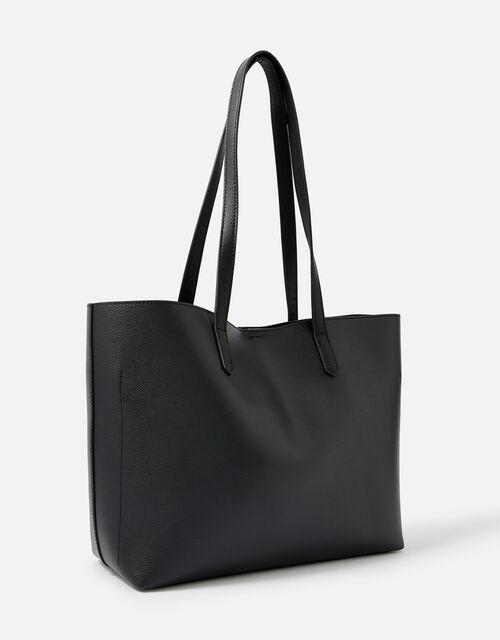 Ali Studded Tote Bag , Black (BLACK), large