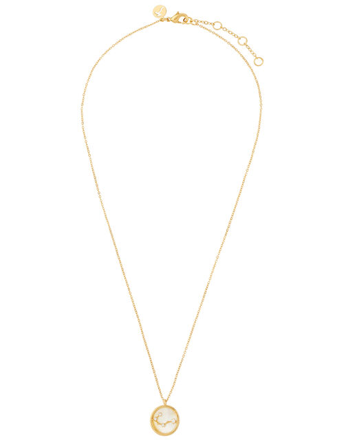 Gold-Plated Constellation Necklace - Cancer, , large