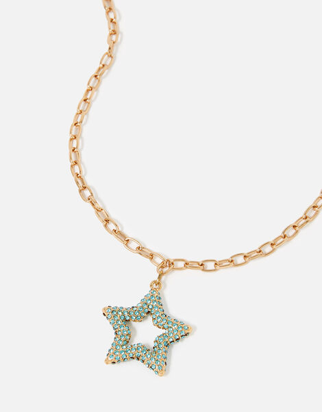 Feel Good Chubby Star Pendant Necklace, , large
