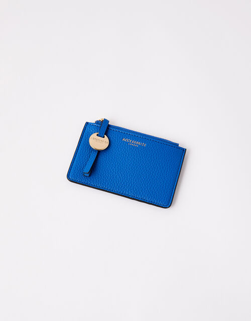 Shoreditch Card Holder with Charm, Blue (COBALT), large