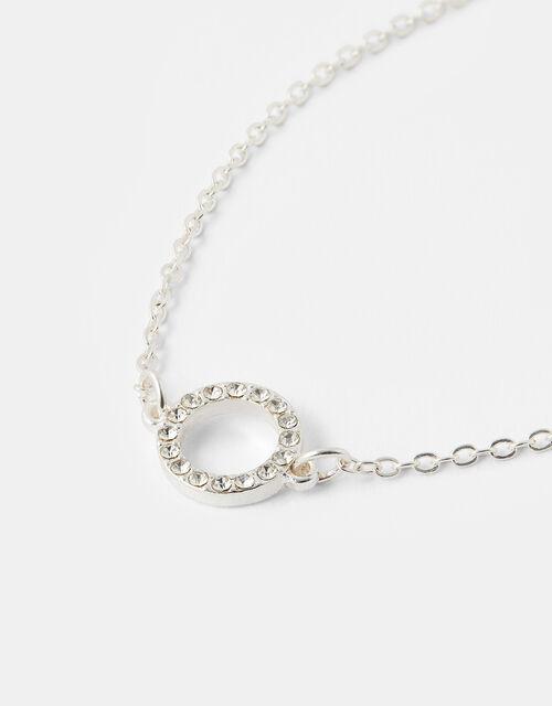 Pave Cut-Out Circle Bracelet , , large