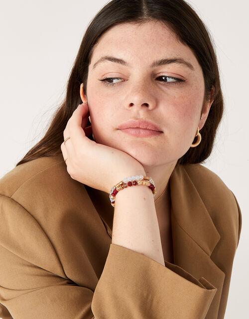 Berry Blush Beaded Bracelets, , large