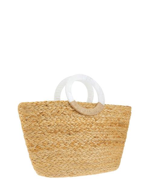 Diamanté Woven Mini Shopper Bag, , large