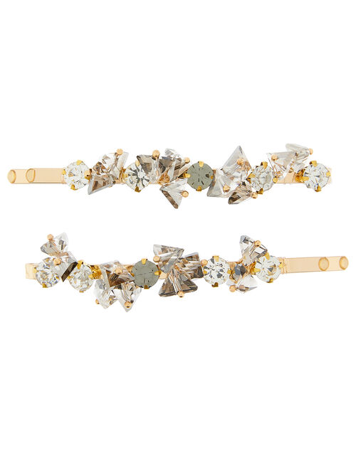 Crystal Gem Hair Slides, , large