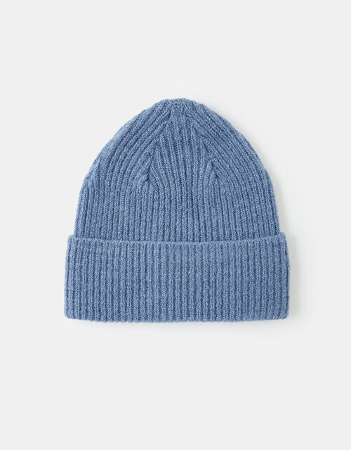 Soho Knit Beanie Hat, Blue (BLUE), large