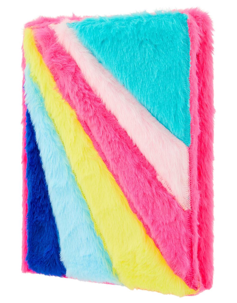 Rainbow Fluffy Notebook, , large