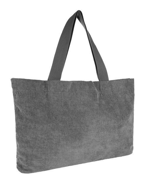 Cord Shopper Bag, Grey (GREY), large