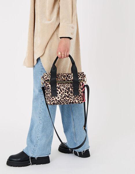 Leopard Cross-Body Bike Bag, , large