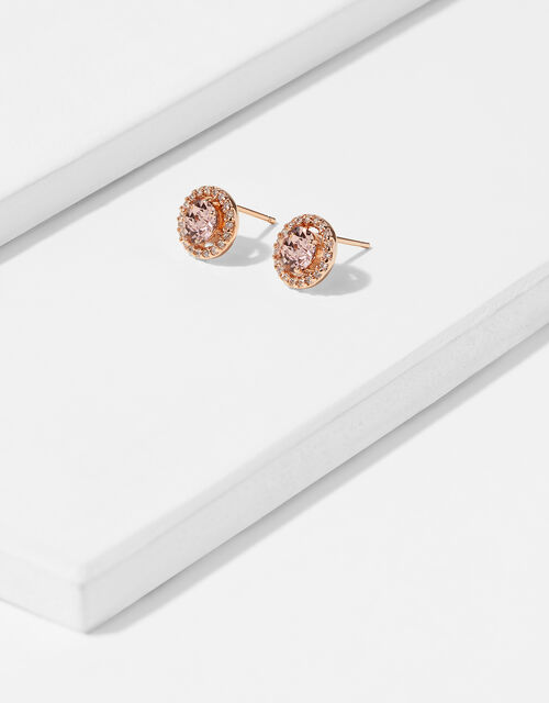 Halo Stud Earrings with Swarovski® Crystals, , large